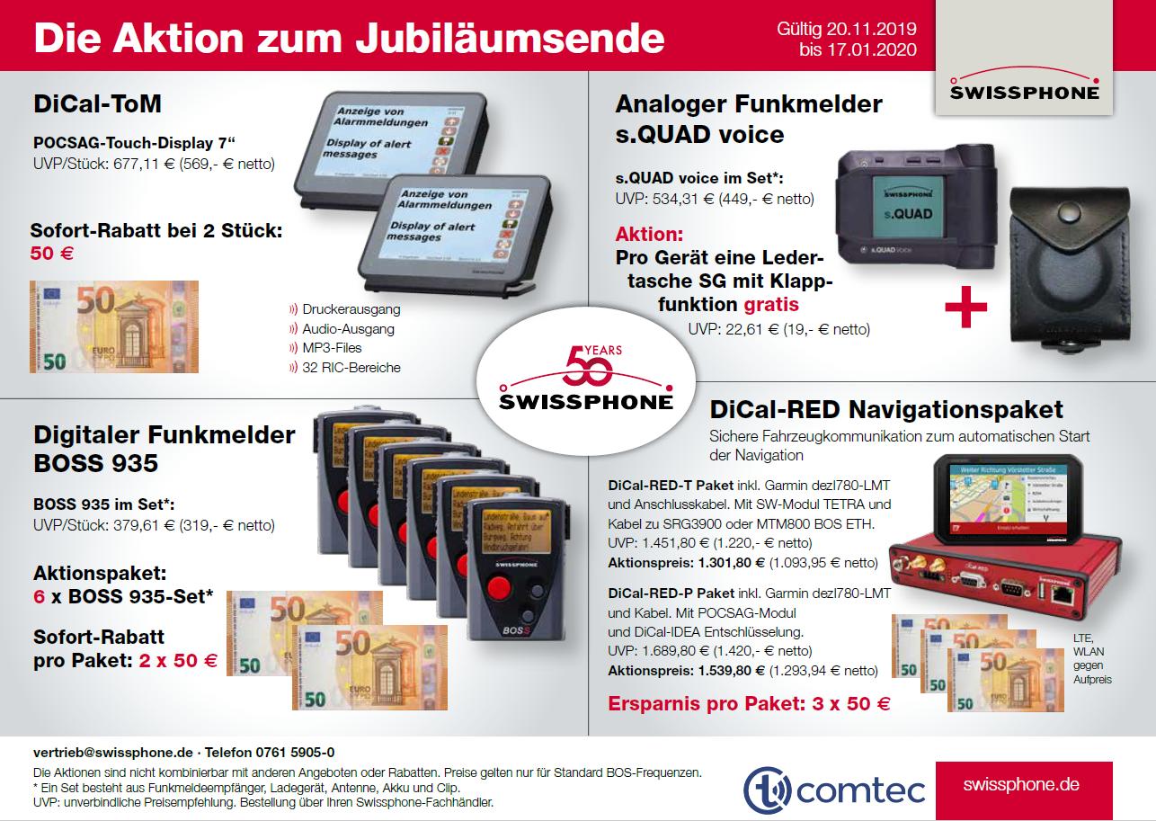 Aktion zum Swissphone Jubiläumsende