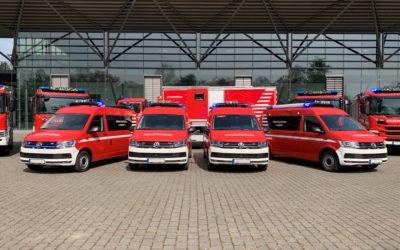 Übergabe von vier ELW1 an die Berufsfeuerwehr Bochum