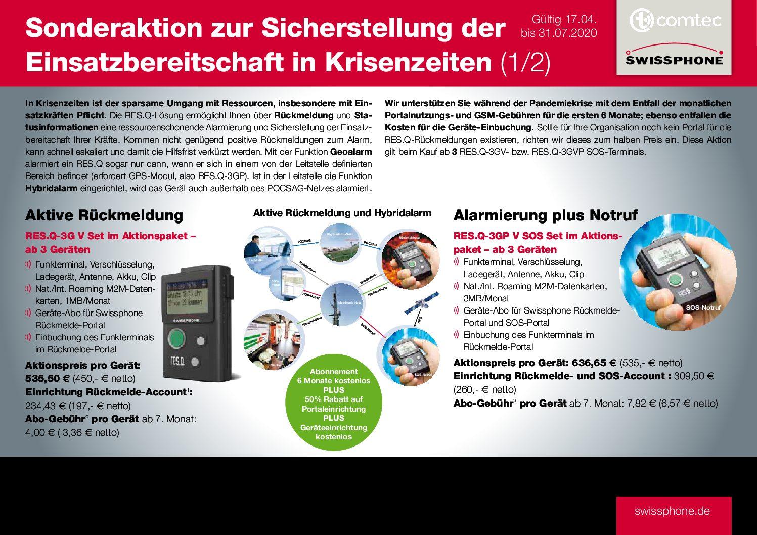 Frühjahrsaktion 2020 Swissphone