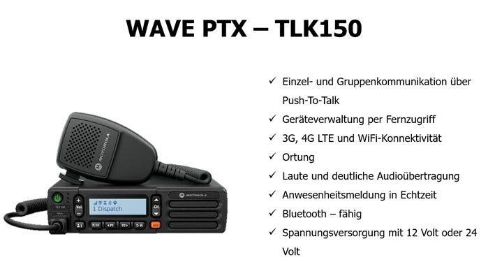 Vorstellung Motorola WAVE PTX Mobilfunkgerät TLK150